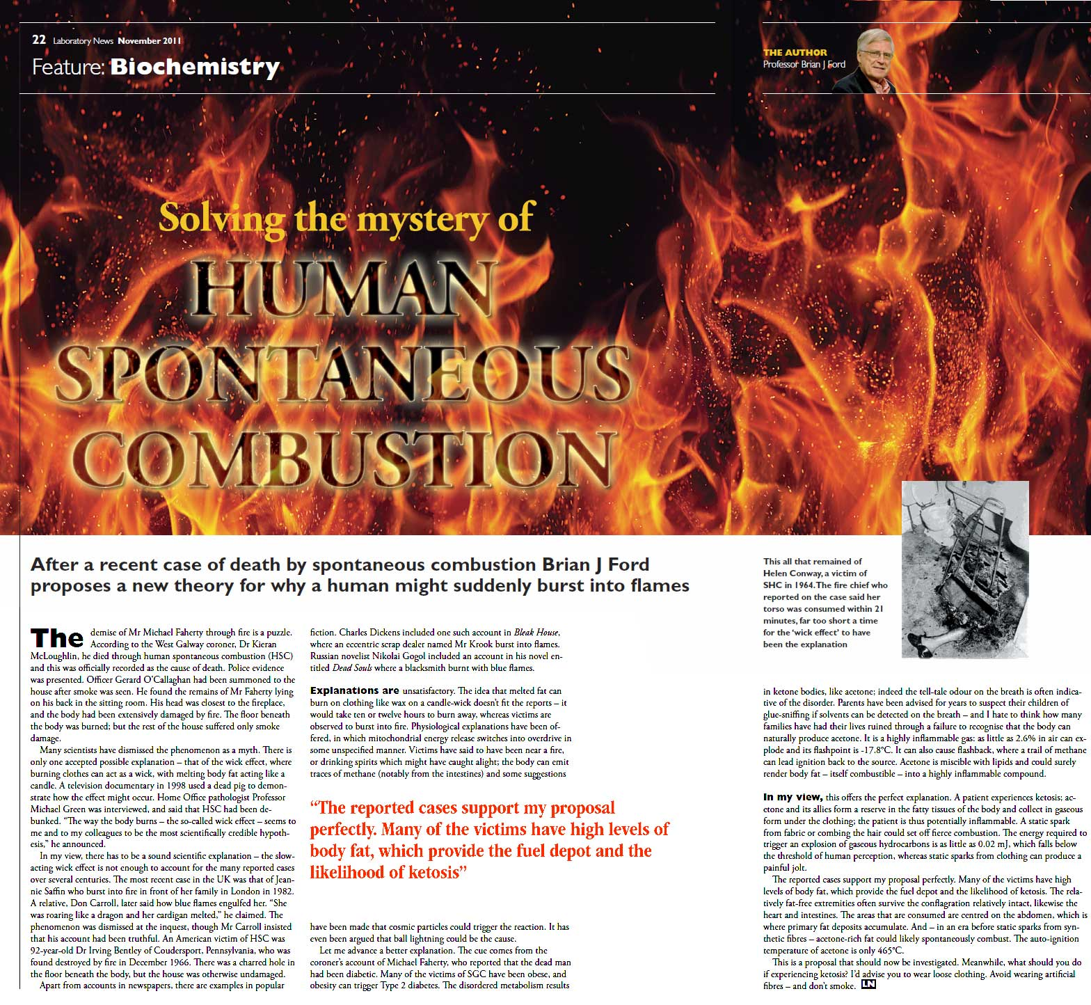 an analysis of theories in spontaneous human combustion Explanation of spontaneous combustion  the theory of thermal spontaneous combustion permits a calculation  the enigma of spontaneous human combustion.